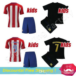 4b0d9ad4d kids Torres Soccer Jersey Sets 2016-17 Football Shirt Soccer Atleticoes  Children youth Uniform Jackson Martinez boys GRIEZMAN KOKE kits sets