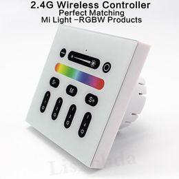 $enCountryForm.capitalKeyWord UK - Mi Light Touch Screen RF Panel Controller 4-Zone 2.4G RF 9 Models Adjustable Mi-Light RGBWW Bulb Led Panel 86 wall Controller
