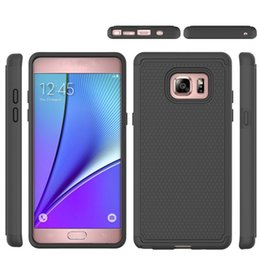 case for samsung cell phone Canada - Dual Layer Anti-Knock Cell Phone Case For Samsung Galaxy Note 7 Cover Silicon & Plastic Armor Shockproof 2in1 Back Protector Case