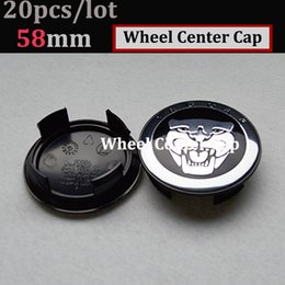 China free shipping 20pcs 58mm Auto Wheel Logo Cap ABS Aluminum for jaguar XJ XF F-Type XK Car Wheel Emblem Cover wheel center hup caps suppliers