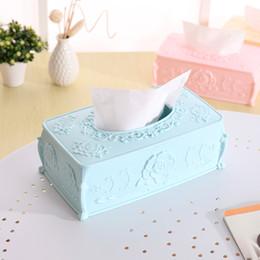 vintage napkin holders 2019 - Wholesale- 1 Pcs.Exquisite Three-dimensional Rose Tissue Box Holder Removable Paper Napkin Home Decorated Vintage Remova