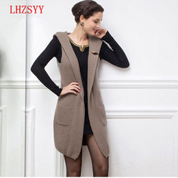 Discount Hooded Cardigan Sweater Vest Sleeveless | 2018 Hooded ...