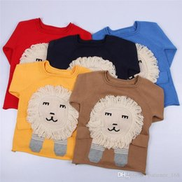 f3fe9fd07eee 5 color INS styles new arrival boy cartoon lion sweater o-neck children long  sleeve 100% Cotton pullover kids boy casual cute sweater