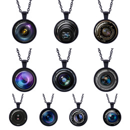 3d camera lens Canada - Retro fashion charms 3D Camera lens long paragraph Pendant black Necklace Photographer Gift Black Photo Glass Camera Pendant Jewelry Gifts