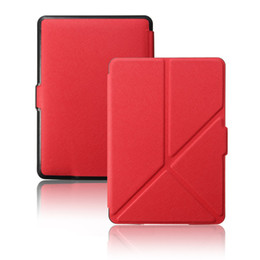 Discount kindle 6 case Wholesale- For Amazon Kindle Paperwhite Case123 Stand Smart Cover Auto Wake Up Sleep Function New Cover Case For Kindle