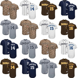 3bb9d3c4ae8 ... Custom Men Women Youth San Diego Padres Jerseys 14 Andy Green 15 Cory  Spangenberg 16 Travis Mens Majestic ...