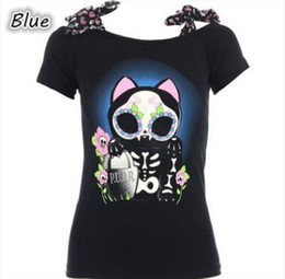 Black Shirt Loose Skull Australia - skull owl 3D Printed women loose tees tops black women tops & tees size s to 5xl plus size scoop neck short sleeve t shirt casual 2017 style