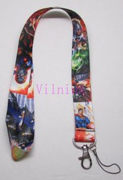 $enCountryForm.capitalKeyWord Canada - Wholeale Free Shipping ! 30pcs Multicolor Justice League Style LANYARD KEY CHAIN Ring Keychain ID Holder NEW