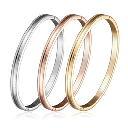 Steel Celtic Bangles Canada - Hot new Bangle H Stainless Steel Bracelet Bangl Titanium Steel Bracelet Lovers bracelet silver rose gold bangle