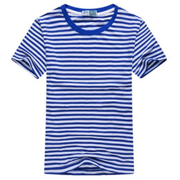 China 2018 New Summer Fashion Men's Short Sleeve Stripe T Shirt Casual Male O-neck Sailor Tops Navy T-Shirt Free Shipping suppliers