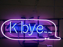 "industrial tube lights NZ - 17"" K Bye Neon Sign Bar Wall Display Tavern REAL GLASS TUBE LIGHT BEER PUB CLUB STORE DISPLAY SIGNAGE"