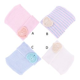 Infant Spring Hats NZ - Sweet Spring Autumn Newborn Baby Girls Hats Mix Colors Stripped Love Heart Knitted Beanies Kids Caps For Infant Toddler Girl