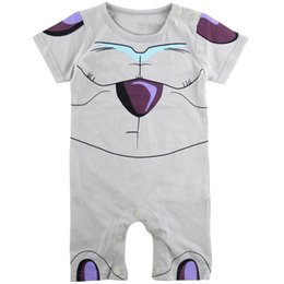 Barato Macacões De Dragão-Baby Boys Dragon Ball Z Traje engraçado Frieza Cute Romper Short Sleeve Algodão Jumpsuit Infant Party Playsuit