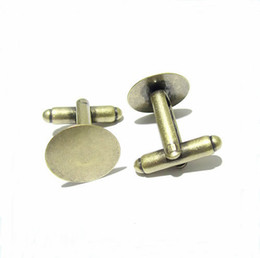 $enCountryForm.capitalKeyWord UK - 50pcs lot 20mm French Style Cufflink Settings Blank Round Pad Tray Cabochon Base For DIY Clothes Accessories