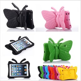 ipad mini case butterfly 2019 - Kids Shockproof Butterfly EVA Case Cover For iPad mini3 EVA Foam Soft Stand drop resistance Cases for iPad mini 1 2 3 ch