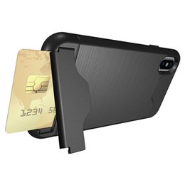 5645fa69b63 For Apple iphone8 case TPU+PC cell phone protective shockproof covers and  stand with card pocket dhl free