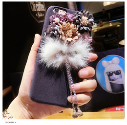 $enCountryForm.capitalKeyWord NZ - Stereo Flower Case Beatiful Tassel Pendant Drop Protection Defender Cover Back Phone Cases For iPhone X XS Max Xr 8 7 6 6S plus