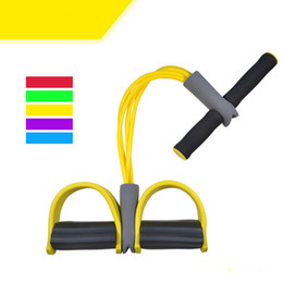 $enCountryForm.capitalKeyWord Canada - Sports Supply Chest Expander Puller Exercise Fitness Resistance Cable Rope Tube Yoga 4 Resistance Bands Multi-functional Fitness Equipment