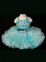 Birthday Dress Size 12 Girls Canada - 2017 BRAND TURQUOISE INFANT SIZED BLUE LITTLE GIRL BIRTHDAY CUPCAKE PAGEANT DRESS BR1055 WHOLESALE FREE SHIPPING