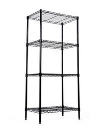 home tool rack UK - Wire Shelving Rack Home Storage Shelf Black Epoxy