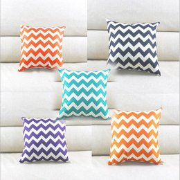 Chevron print pillow Cases online shopping - Eco Friendly Cushion Case Chevron Wave Printed Cushion Cases Mediterranean Style Pillow Covers Home Textiles Decor Pillow Case