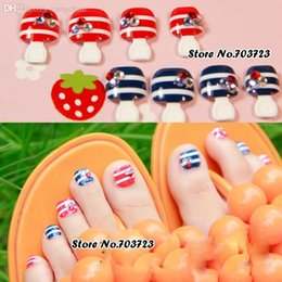 Summer toe nail art online summer toe nail art for sale wholesale 24x nail art lover artificial false ladys pre design toenails toes flower in summer prinsesfo Gallery