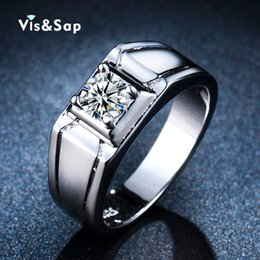 $enCountryForm.capitalKeyWord Canada - Visisap White Gold color hero ring Rings for men vintage punk anel Wedding bands gifts for lovers fashion Jewelry VSR236