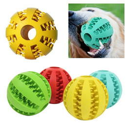 $enCountryForm.capitalKeyWord NZ - 7CM Rubber Watermelon Pattern Ball Funny Natural Non-toxic Pet Dog Bite Resistant Teeth Cleaning Chew Toy Big Size