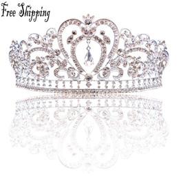 crown luxury hair 2019 - Luxury Elegant Crystal Bridal Crown Woman Tiaras Hair Jewelry Ornaments Hairwear Bride Wedding Hair Accessories CPA791 c