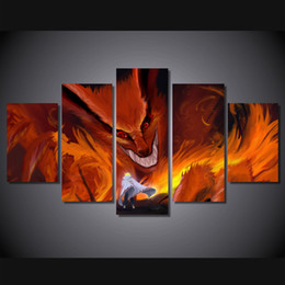 $enCountryForm.capitalKeyWord Canada - New Anime Naruto Paintings on Canvas 5 pcs set Modular Printed pictures For kids room Wall painting Personalized gift