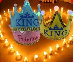 princes dresses 2019 - Cindy same paragraph luminous crown prince and princess birthday hat party hat party hats dress headdress full shipping
