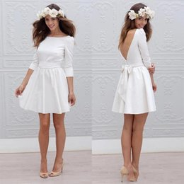 Discount Wedding Reception Dresses Bride Short Wedding