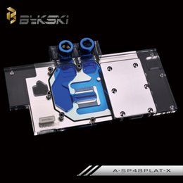 Discount water cooling blocks - Wholesale- Bykski A-SP48PALT-X Full Cover Graphics Card Water Cooling Block for Sapphire RX480 8G OC