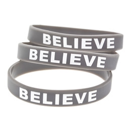 Wear Bracelet Australia - Wholesale 100PCS Lot Justin Bieber Believer Silicone Bracelet Show Your Support For Them By Wearing This Wristband