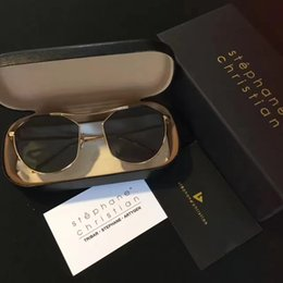 Chinese  stephane christian daydream Sunglasses black BK-BK Jeong Jin woon Designer Brand Sunglasses Cat Eye New with Case Box manufacturers