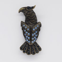 eagle pins Australia - Wholesale Fashion Brooch Rhinestone Eagle Pin brooches costume jewelry gift C101569