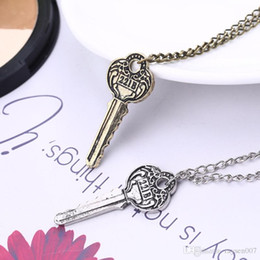 $enCountryForm.capitalKeyWord NZ - Detective Sherlock 221B Apartment Key Pendant Necklace Vintage copper silver Female Male Movies Accessories Fashion Chain Necklace Jewelry