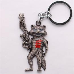 $enCountryForm.capitalKeyWord Canada - Wholesale 10pcs lot Movie Guardians of the Galaxy Rocket Raccoon Keychain High Quality Alloy Key Chains Size 7.5*4.5cm