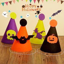 Decorative paper supplies online shopping - Home Festive Event Halloween supplies Handmade hats Pumpkin bat skull witch Festive Event Party Decoration