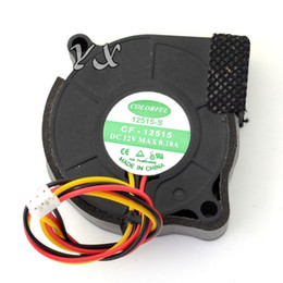 Discount 12v blower fan computer - Free shipping high quality CF-12515 5015 50MM 5CM DC 12V 0.18A blower cooling fans cooler