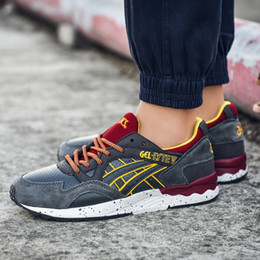 China 2019 Asics Gel Lyte V H519L-1611 Men Shoes Women Running Shoes Top Quality Training Sport Sneakers Online Walking Designer Shoes supplier asics gel lyte suppliers