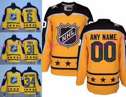 ... stitched nhl jersey 2017 all star hockey jersey atlantic yellow 6 shea  weber 31 carey price 584fa95fd