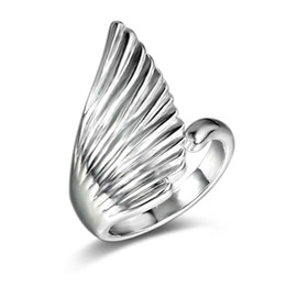 $enCountryForm.capitalKeyWord UK - Fashion Jewelry Wedding Rings For Women High Quality White Gold Plated Wave CZ Engagement beautiful angel's wing Ring YDHR116