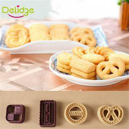 $enCountryForm.capitalKeyWord Canada - 4 pcs lot Round Square Heart Shapes Cookie Mold Food -Grade Plastic DIY Cookie Mold Random Color baking moulds