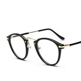 845ad35f4c72 Wholesale- 2017 Fashion Big Frame Prescription Glasses Women Korean Eyeglasses  Super Light Metal Glasses Hipster Accessories