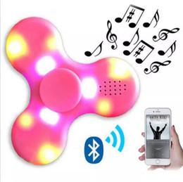 Bluetooth ses ve Led Usb El Spinner Parmak spinner oyuncak EDC Oyuncak İçin Dekompresyon Anksiyete Oyuncak ile YENİ EDC Fidget Spinner