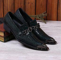 $enCountryForm.capitalKeyWord Canada - 2017 Men Snake Metallic Italian Shoes Men Leather Formal Slip-On Oxfords Shoes Skin Famous Designer Business Italian Flat Party Shoes