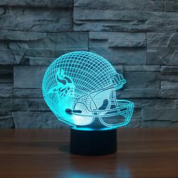 3d helmet free online shopping - D American football team helmet led light furniture model