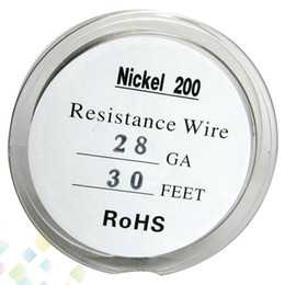 $enCountryForm.capitalKeyWord Canada - Pure Nickel Ni200 Wire Temperature Control Wire 30 Feet 20 22 24 26 28 30 32 Gauge for Atomizer TC Mod DHL Free