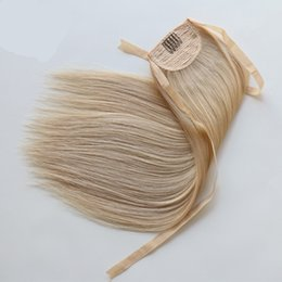 human hair straight drawstring ponytail Australia - 120g Human Pony Tail Hair Extensions Ponytail-Natural-Hair Brazilian Ponytail Brazilian Human Hair Drawstring Ponytail Shipping Free